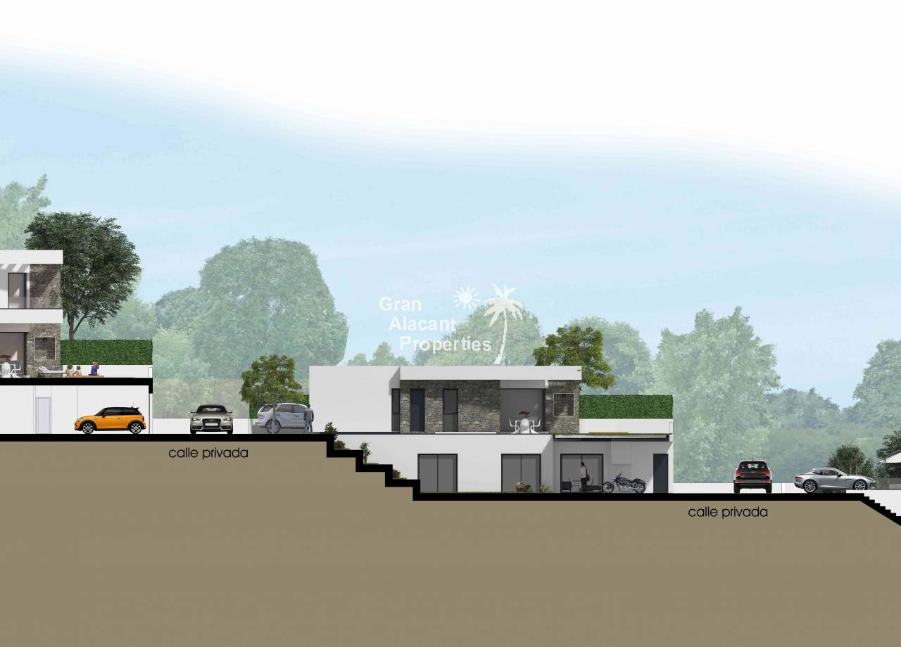 New Build - Detached Villa - Rojales - Skyline